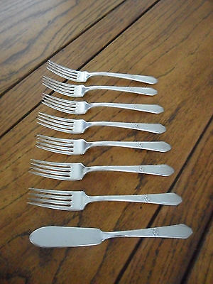 "LOT -Laurier by Northumbria Sterling Silver Forks 7"" & Butterknife-NO RESERVE"