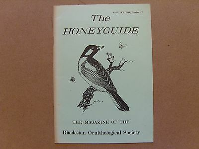 The Honey Guide - January 1969 - Magazine The Rhodesian Ornithological Society