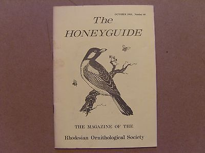 The Honey Guide - October 1969 - Magazine The Rhodesian Ornithological Society