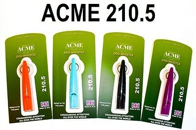 Acme 210.5 Single Pitch Dog Whistle - by Dog & Field 4 Colour Options Available