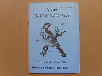 The Honey Guide - July 1970 - Magazine The Rhodesian Ornithological Society