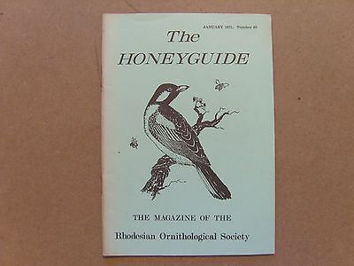 The Honey Guide - January 1971 - Magazine The Rhodesian Ornithological Society