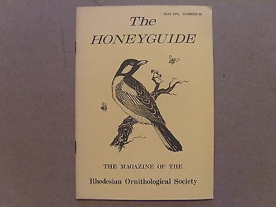 The Honey Guide - May 1971 - Magazine The Rhodesian Ornithological Society