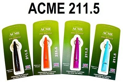 Acme 211.5 Single Pitch Dog Whistle - by Dog & Field 4 Colour Options Available