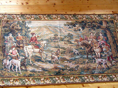 """Tapestry: Vintage French """"Goblins"""" Woven Wall Hanging/Tapestry(79"""" x 44"""")"""