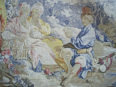 """A Large French Aubusson Style Wall Hanging/Tapestry( 5 foot 4"""" x 4 foot 4"""")"""