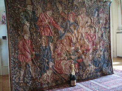 """A Stunning French Heavy Wool, Vedure Style Wall Hanging/Tapestry(68"""" x 50.25"""")"""