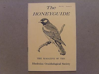 The Honey Guide - May 1973 - Magazine The Rhodesian Ornithological Society