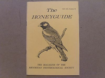 The Honey Guide - May 1974 - Magazine The Rhodesian Ornithological Society