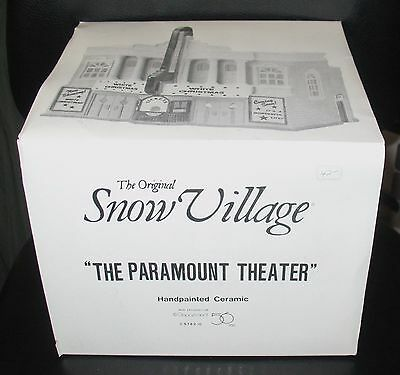 DEPT 56 Snow Village Lighted The Paramount Theater Christmas 51420 in Orig. Box