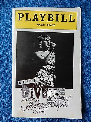 Bette! Divine Madness - Majestic Theatre Playbill - January 1980 - Bette Midler