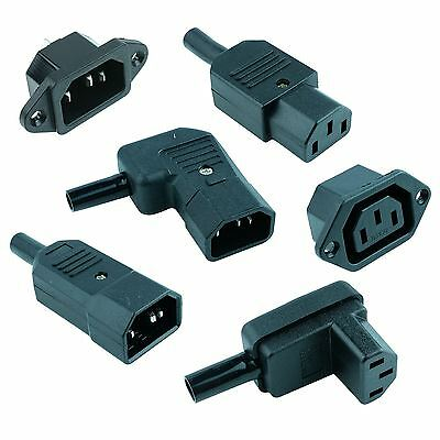 IEC Mains Power Plug / Socket Cable Connectors C13 C14