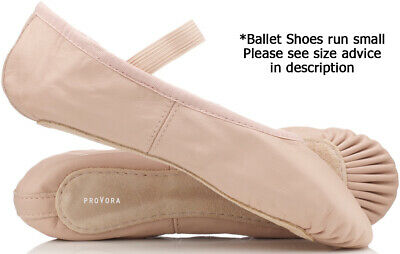 Pink LEATHER proVora soft Ballet Pumps for girls/ children/ adults. All sizes !