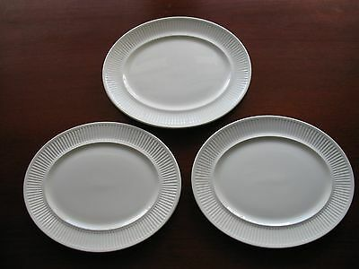 Lot of 3 Johnson Brothers Athena 11 3/4\  White Oval Serving Platters VGUC & LOT OF 3 Johnson Brothers Athena 11 3/4\