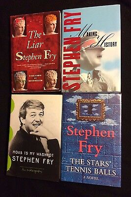 Lot of 4 STEPHEN FRY books THE STARS TENNIS BALLS MAKING HISTORY