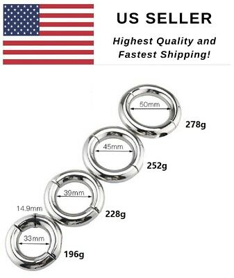 Stretcher Weight -  Stainless Steel Ball Stretcher Man Enhancer Ring  US SELLER