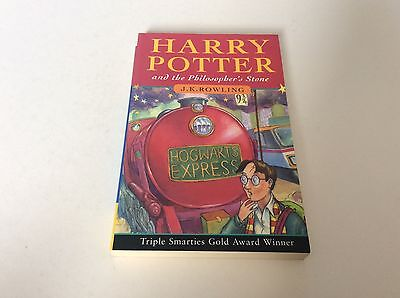 Harry Potter and the Philosophers Stone First Edition Paperback.