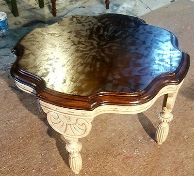 Mersman Side Table with Carved Base
