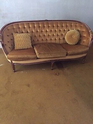 Antique Style Chique (Golden / Yellow) 3 piece: one settee and two chairs