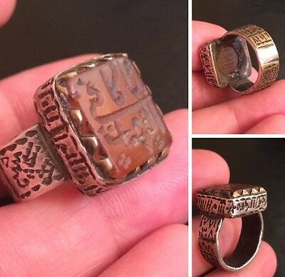 Antique Aqeeq Yemani Telsam Ruhani Ring