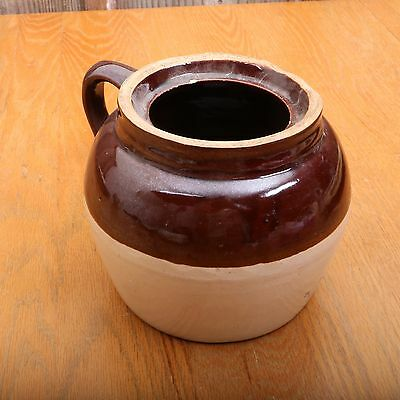 Vintage USA Blue Crown No 2 Brown Top Stoneware Crock