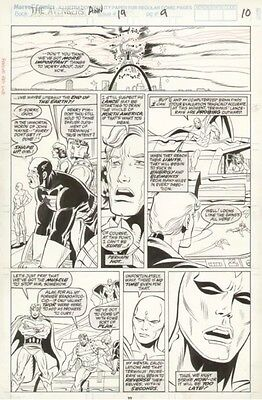 Marvel Avengers Annual 19 Herb Trimpe Original Art Page Pg 9 Artwork 11x17