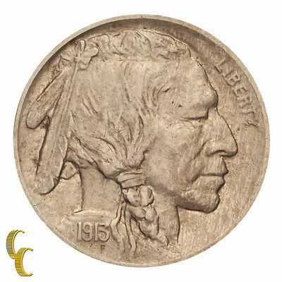 1913 Type 1 Buffalo Five Cent Nickel 5C (About Uncirculated, AU Condition)