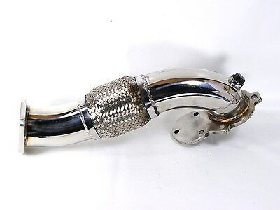 "MK1 Polished Stainless Steel 2.5"" Downpipe w/Flex Fits Starion Conquest"