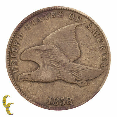 1858 Small Letters Flying Eagle Cent 1C Penny (Very Fine, VF Condition)