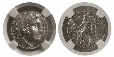 Alexander the Great Silver Tetradrachm Ancient Greek Coin Almost Uncirculated AU