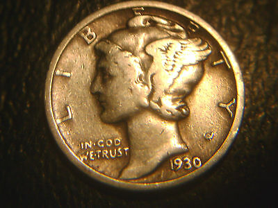 1930 Mercury Dime In Very/nice Condition.rare.add To Set Or Collection.