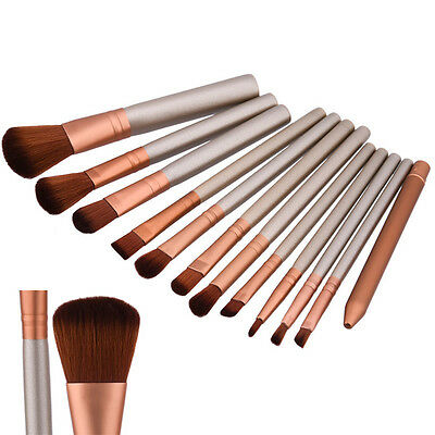 12PCS Makeup Brushes Powder Foundation Eyeshadow Lip Brush Cosmetic Beauty Tools