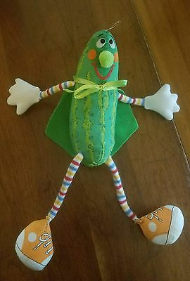 "1980 Vintage  Super Pickle  13"" Plush Stuffed Toy With Cape By Amtoy"