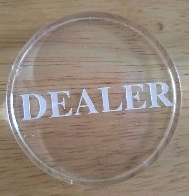 SmartDealsPro Transparent Dealer Poker Button ***2 Small Chips** SEE PHOTOS