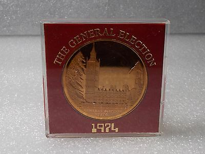The General Election 1974 Medal / Solid Bronze in Mint Condition.RARE.