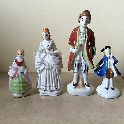 Occupied Japan Figurines Vintage Colonial Lot of 4