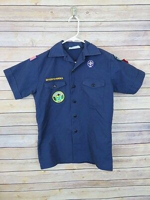Boy Scouts of America Youth Large official short sleeved button front shirt