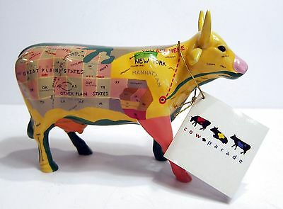 Map Cow Figurine - Cows on Parade #9162 - Original Packing