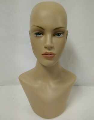 LESS THAN PERFECT #322 Female Mannequin Head Form Display with Neck Bust