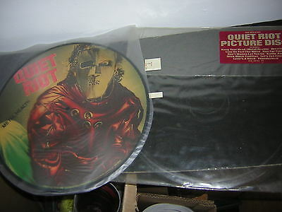 Quiet Riot Picture Disc 1983 Metal Health W/hype Sticker Lp Kevin Dubrow