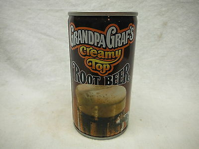 Grandpa Graf's Creamt Top Root Beer Soda Can-Milwaukee,wis #30