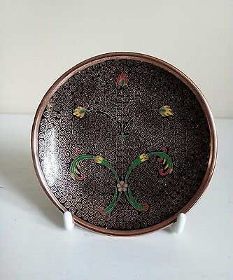 Antique Japanese Cloisonné Footed Pin Dish