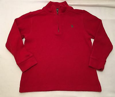 Polo By Ralph Lauren Red Half Zip Pullover Toddler Boys 5