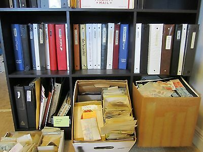 Million's of worldwide  from estate,stamps from albums,dealer cards ,many sets