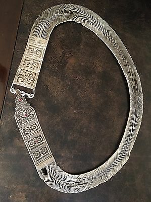 Solid Silver Belt Antique