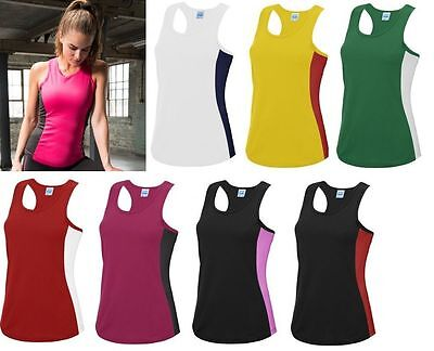 Womens Sports Gym Racer Back Running Vest Fitness Jogging Yoga Tank Top JC016