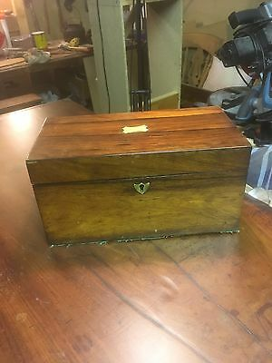 Antique Rosewood tea caddy with TWIN Compartment And Mixing A Bowl Circa 1810