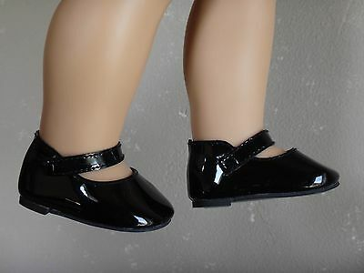 AMERICAN GIRL Molly or Samantha's Black Patent MARY JANE SHOES