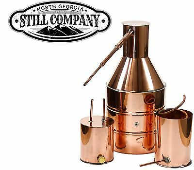 5 Gallon Copper Moonshine Still With Worm & Thumper