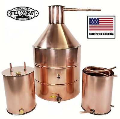 20 Gallon Copper Moonshine Still With Worm & Thumper
